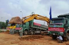 Máy móc sẽ được sử dụng trong việc xây dựng tuyến đường ống nước sông Đà số 2