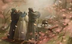 3 người Lưu Bị, Quan Vân Trường, Trương Phi kết nghĩa anh em