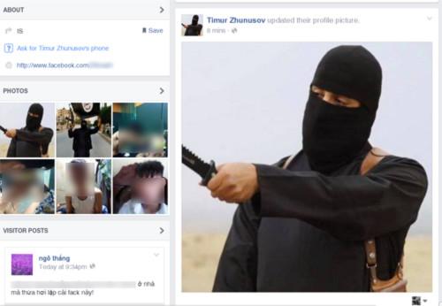 Tràn ngập Facebook giả mạo IS của người Việt.