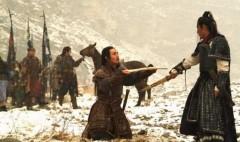 Phạm Lãi (quỳ) và Câu Tiễn trong phim Việt Vương Câu Tiễn hay còn gọi tên khác là Nằm Gai Nếm Mật