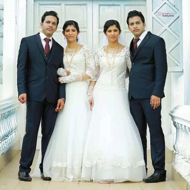 Hình ảnh Đám cưới chung kỳ lạ của hai cặp song sinh số 1