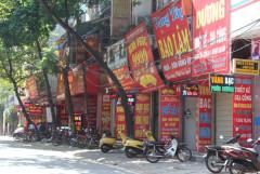Một phu phố kinh doanh vàng bạc gần cửa khẩu Lào Cai