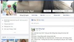 Facebook cánh đồng ngô. Ảnh nguoiduatin