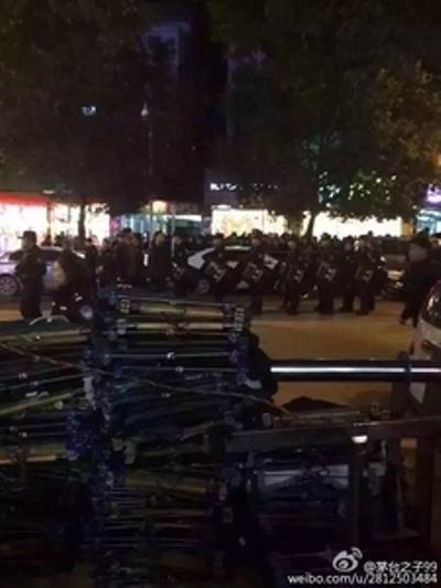 Cảnh sát được huy động đàn áp cuộc biểu tình