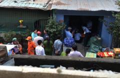 Cảnh cưỡng chế khu chung cư ở Quận Bình Thạnh, Sài Gòn hôm 15/12 Ảnh do cư dân cung cấp cho RFA
