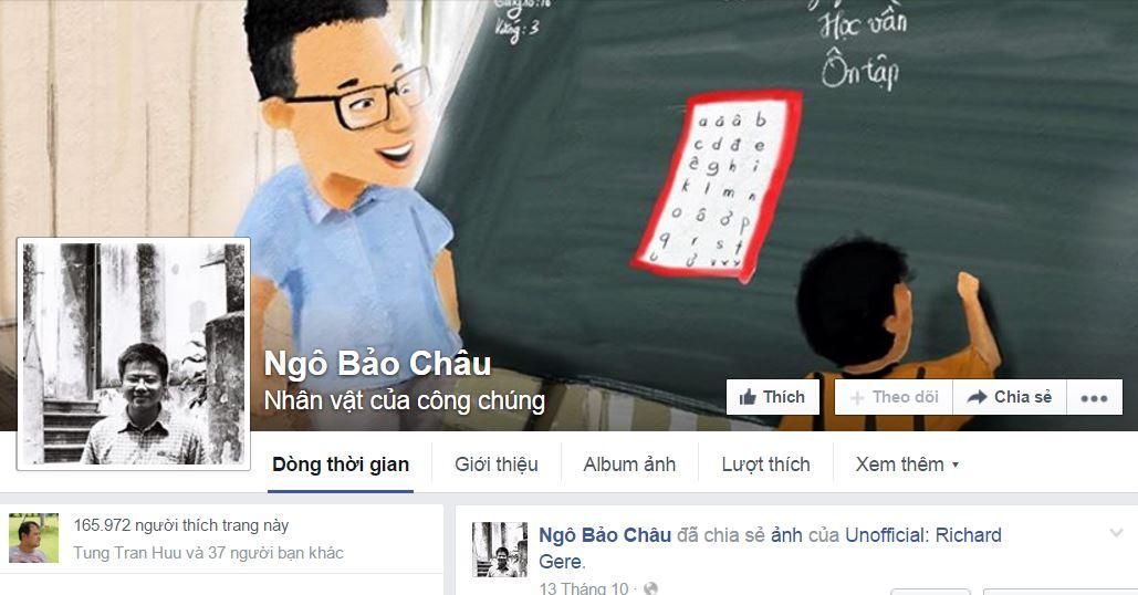 Facebook mạo danh Ngô Bảo Châu