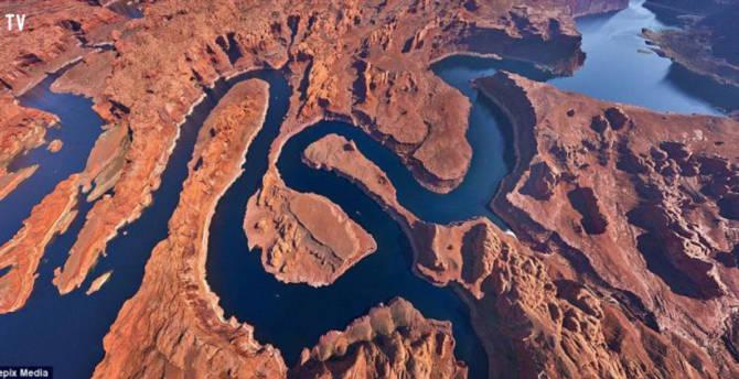 Các kỳ quan thế giới tuyệt đẹp khi nhìn từ trên cao