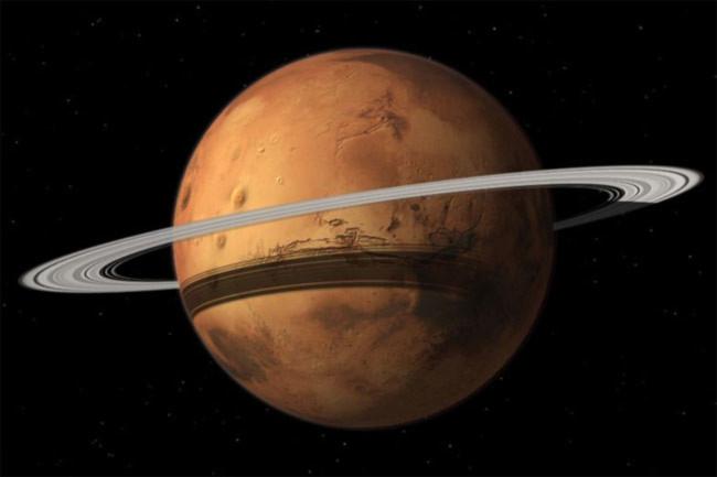 Mặt trăng tan vỡ sẽ hóa vành đai bao quanh sao Hỏa