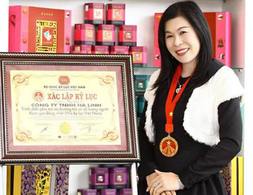 Bà Linh là chủ doanh nghiệp trà lớn nhất Việt Nam. Ảnh: NLĐ