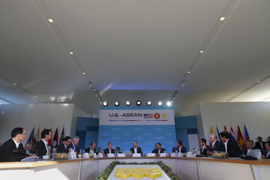 Khung cảnh Hội nghị Cấp cao ASEAN - Mỹ hôm 15-2. Ảnh: Reuters