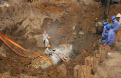 Đường ống nước sông Đà đã nhiều lần gặp sự cố. Ảnh minh họa Võ Hải - vnexpress