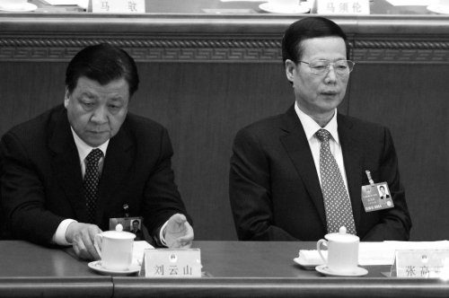 Ông Lưu Vân Sơn (trái) và Trương Cao Lệ (phải) bị tiết lộ sở hữu số tài sản lên đến hơn trăm triệu Nhân dân tệ