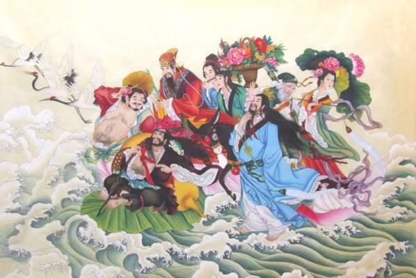 Tranh Bát Tiên (Nguồn: inkdancechinesepaintings.com)