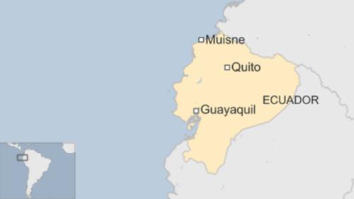 Vị trí thủ đô Quito, Ecuador. Đồ họa: BBC.