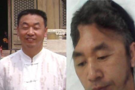 Trịnh Tường Tinh trước khi bị bức hại (trái), và Trịnh Tường Tinh sau khi bị nhà tù Bảo Định bức hại (phải) (Ảnh: mạng Minh Huệ).