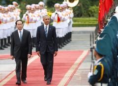 TT Mỹ Barack Obama và CT nước VN Trần Đại Quang tại Hà Nội, 23/05/2016.