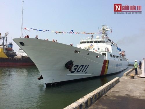 Tàu huấn luyện trên biển của Hàn Quốc ghé thăm Đà Nẵng - Ảnh 1