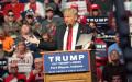 Ông Donald Trump phát biểu trước khoảng 7.000 người ở Fort Wayne ngày 1-5. Ảnh: WANE.COM