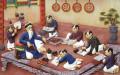 Dạy học thưở xưa. Ảnh minghui.org