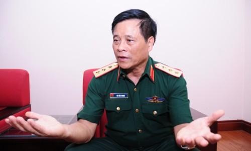 """Thượng tướng Võ Tiến Trung: """"Nếu Trung Quốc tỉnh táo, họ sẽ phải điều chỉnh lại thái độ của mình"""". Ảnh: Văn Việt."""