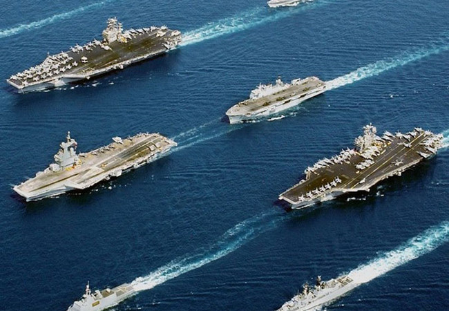 Lực lượng hải quân hùng mậu của Mỹ kiểm soát giao thông hàng hải tại biển Đông. Ảnh viettimes.vn