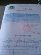 Một số học bạ do Trung tâm GDTX huyện Đắk Song cấp nghi làm giả. Ảnh plo.vn