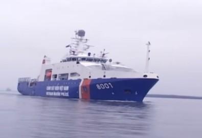Tàu 8001 được mệnh danh là tàu cảnh sát biển hiện đại nhất Đông Nam Á. Ảnh cắt từ youtube