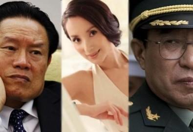 """Thang Xán, người được mệnh danh là """"yêu cơ trong quân đội"""", """"người tình chung"""" được cho rằng có liên hệ với nhiều quan chức cấp cao trong quân đội và chính phủ, trong đó bao gồm cả Từ Tài Hậu và Chu Vĩnh Khang"""