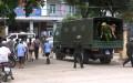 Lúc 12h, nhiều lực lượng công an được tăng cường bảo vệ an ninh tại bệnh viện. Ảnh: Sơn Dương