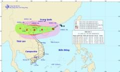 Vị trí và đường đi của bão số 3. Ảnh Trung tâm Dự báo Khí tượng Thủy văn