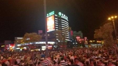 biểu tình phản đối dự án hạt nhân, biểu tình ở Giang Tô,