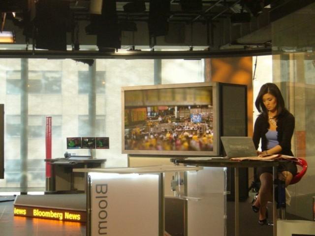 Tại trường quay của chương trình Bloomberg TV