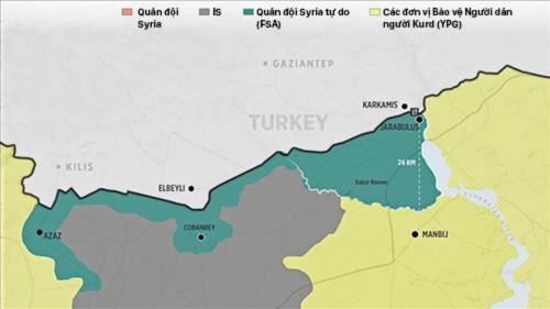 Khu vực biên giới Thổ Nhĩ Kỳ - Syria ngày 4/9. Đồ họa: Anadolu.