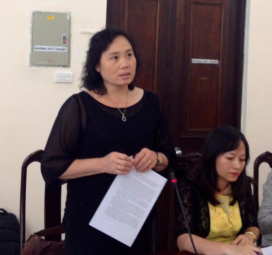 """Bà Nguyễn Thúy Anh, Trưởng Ban Hợp tác quốc tế: """"Trí thức cần môi trường làm việc chuyên nghiệp"""". Ảnh vusta.vn"""