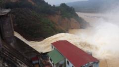 Thủy điện Hố Hô vẫn tiếp tục xả lũ vào ngày 16-10. Ảnh nld.com.vn