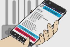 Ứng dụng cài trên điện thoại của đơn vị kiểm dịch, thú y. Ảnh: Sở công thương