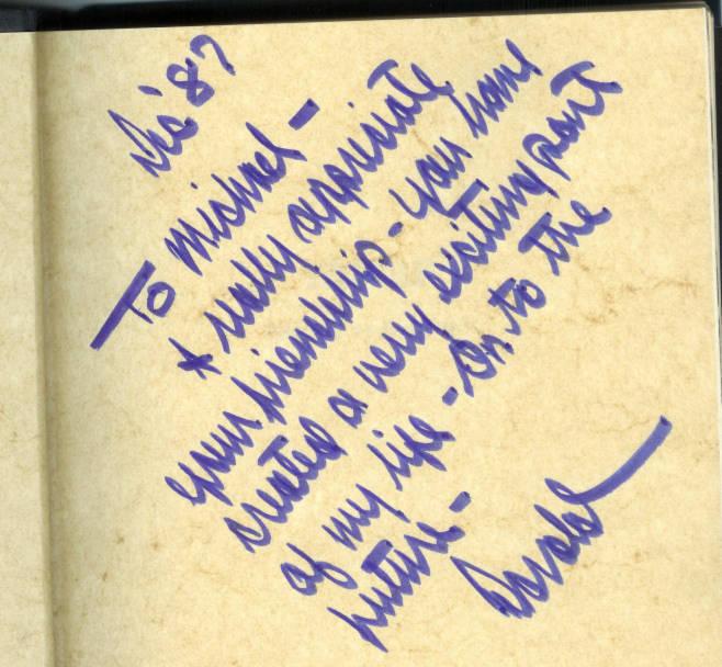 Bút tích của Donald Trump trên bìa cuốn Nghệ thuật Đàm phán gửi Mike Dunbar năm 1987 (Ảnh: Dunbar cung cấp cho Poli co)