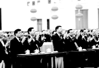 Phía bên trái ông Tập là 3 người thuộc phe Giang, 3 người thuộc phe ông Tập ngồi phía bên phải. (Ảnh: Internet)
