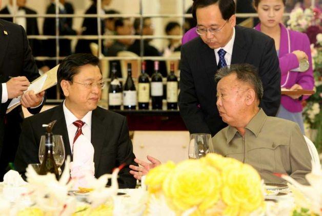 Lưu Vân Sơn, Ủy viên thường vụ Bộ Chính trị Trung Quốc, trong một chuyến thăm Bình Nhưỡng. (Ảnh: CNN)