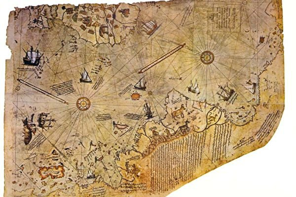 Bản đồ Piri Reis. (Ảnh: Wikipedia)