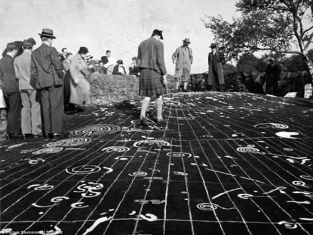 Đá Cochno, tấm bản đồ vũ trụ, Scotland, hình họa bí ẩn,