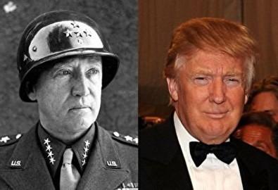 Trump (bên phải) và Patton (trái) rất giống nhau. (Ảnh: Epoch Times)