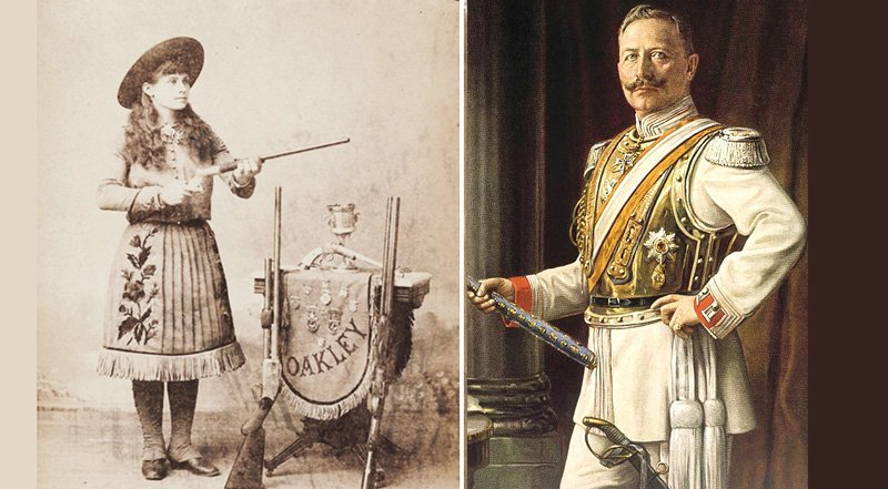Annie Oakley và Hoàng đế Friedrich Wilhelm II