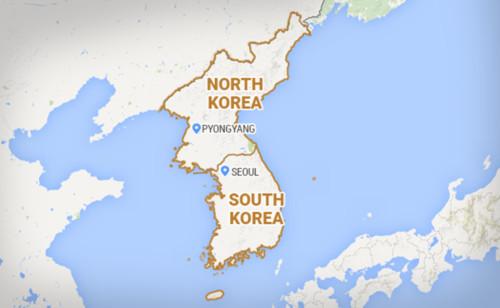 Bản đồ bán đảo Triều Tiên. Đồ họa: NDTV