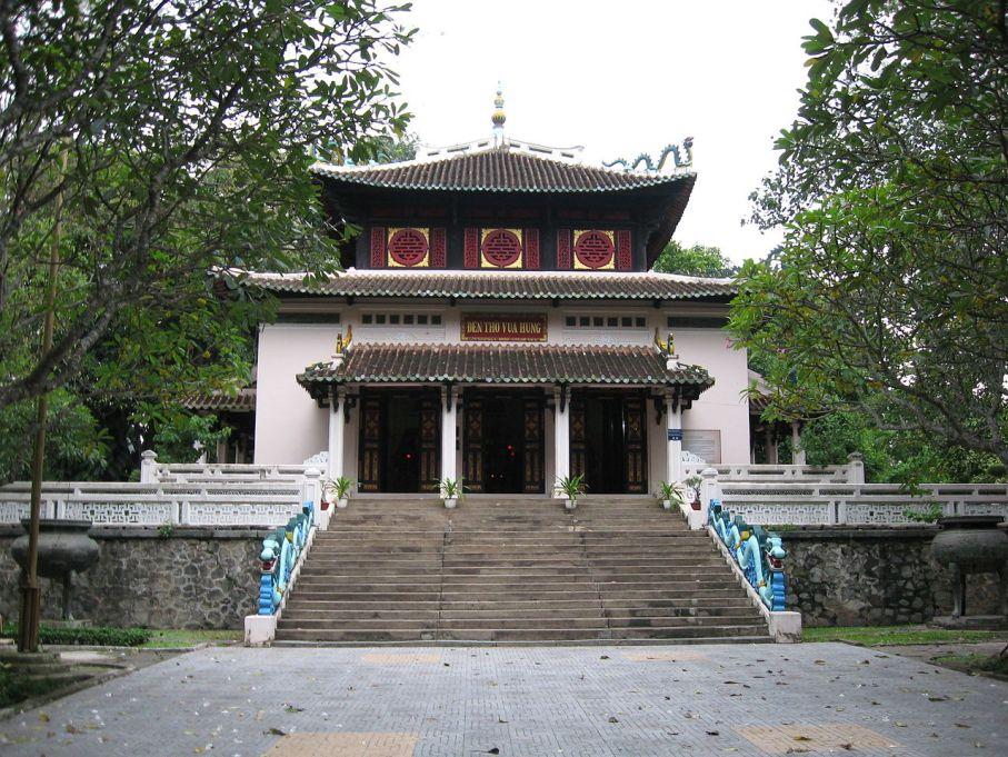 Đền thờ vua Hùng trong Thảo cầm viên Sài Gòn. Ảnh vnco.org