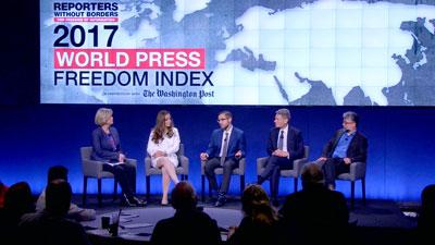 Hội thảo về tự do thông tin ở tòa báo Washington Post tại Washington DC sáng 26/4/2017. RFA photo