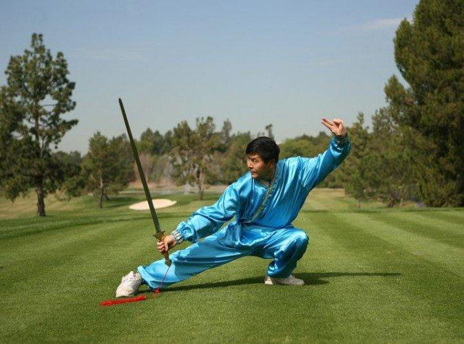 Bậc thầy Kung fu, Lý Hữu Phủ luyện võ. (Ảnh: Epoch Times)