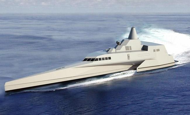 Mô hình chiến hạm tàng hình 3 thân của Indonesia