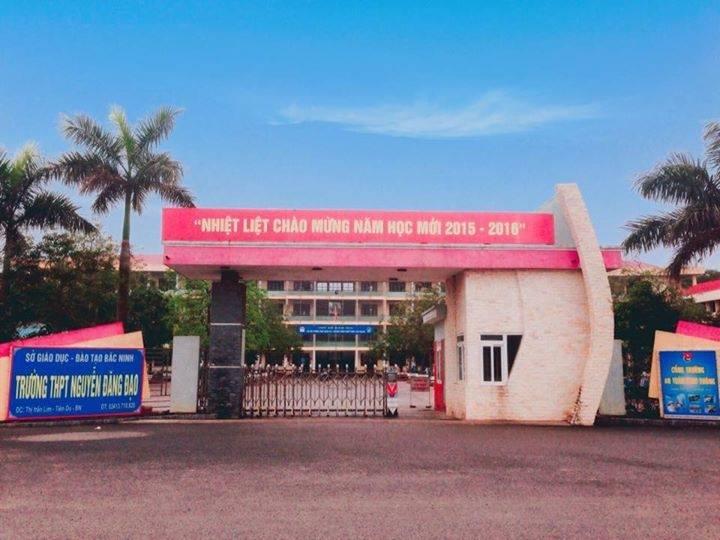 Trường THPT Nguyễn Đăng Đạo ở Bắc Ninh. (Ảnh bacninh.edu.vn)