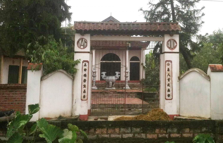 Cổng đền thờ trạng nguyên Vũ Công Duệ. (Ảnh từ lichsuvietnam.edu.vn)
